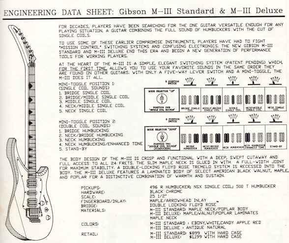 Gibson M-III switching system