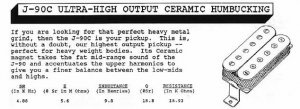 Jackson J-90C humbucker info