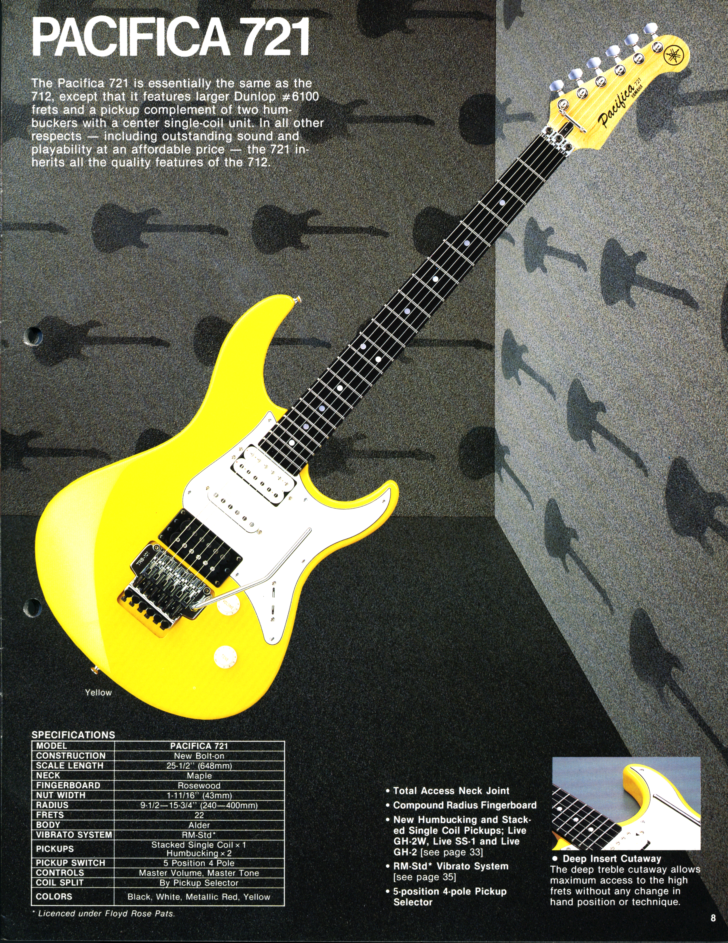 Yamaha Pacifica Guitar Wiring Diagram 37 Images Bass 721 Specifications Catalog At Cita