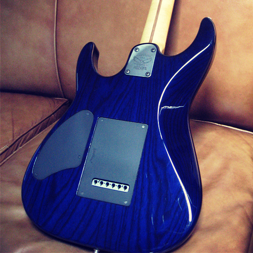 Washburn Mercury MG100 Pro Trans Blue back
