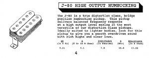 Jackson J-80C humbucker description
